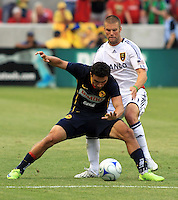 Enrique Esqueda and Chris Wingert in the Club America @ Real Salt Lake 0-1 RSL win at Rio Tinto Stadium in Sandy, Utah on July 11, 2009