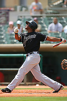 July 17 2008: Sharlon Schoop of the San Jose Giants during game against the Lancaster JetHawks at Clear Channel Stadium in Lancaster,CA.  Photo by Larry Goren/Four Seam Images