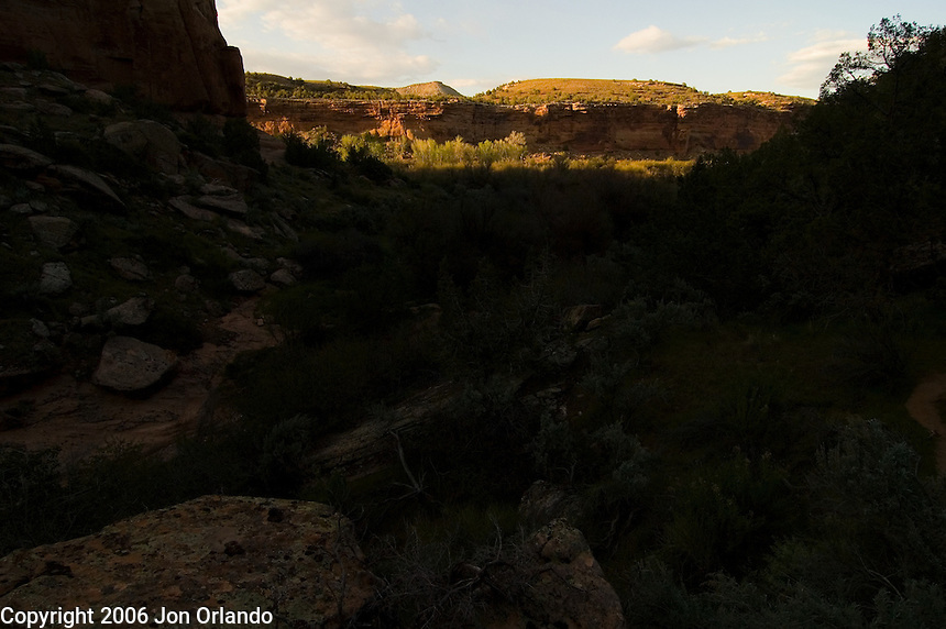 View from a side canyon of Horsethief Canyon on the Colorado River in western Colorado