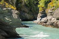 Shotover River gorge, Queenstown, Central Otago, New Zealand, NZ