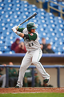 Fort Wayne TinCaps catcher Jose Ruiz (21) at bat during a game against the Lake County Captains on May 20, 2015 at Classic Park in Eastlake, Ohio.  Lake County defeated Fort Wayne 4-3.  (Mike Janes/Four Seam Images)
