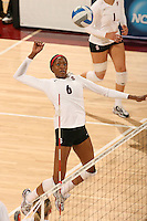 30 November 2007: Franci Girard during Stanford's 3-0 win over Santa Clara University in the first round of the NCAA Division 1 Women's Volleyball Championships in Maples Pavilion in Stanford, CA.