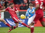 Aberdeen v St Johnstone…29.04.17     SPFL    Pittodrie<br />Craig Thomson has a shot at goal<br />Picture by Graeme Hart.<br />Copyright Perthshire Picture Agency<br />Tel: 01738 623350  Mobile: 07990 594431