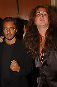 FORT LAUDERDALE FL - MAY 08: Al Di Meola and Yngwie Malmsteen attend the Brazilian children's charity event held at the Fort Lauderdale Marriott on May 8, 2002 in Fort Lauderdale, Florida. : Credit Larry Marano © 2002
