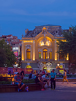 Bibliothek -ehemaliges Kasino am Trg Slobode, Subotica, Vojvodina, Serbien, Europa<br /> Library, former Casino at Trg Slobode, Subotica, Vojvodina, Serbia, Europe