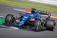 18th July 2021; Silverstone Circuit, Silverstone, Northamptonshire, England; Formula One British Grand Prix, Race Day; Alpine F1 Team driver Fernando Alonso in his Alpine A521 Renault E-Tech 20B i