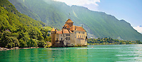 Chateaux Chillion on Lac Leman, Montreaux, Vaud Switzerland
