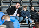 St Johnstone v Celtic…07.10.18…   McDiarmid Park    SPFL<br />Celtic captain Scott Borwn watching the game from the stands<br />Picture by Graeme Hart. <br />Copyright Perthshire Picture Agency<br />Tel: 01738 623350  Mobile: 07990 594431