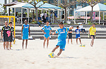 Tomoya Uehara,   Marcelo Mendes (JPN),<br /> APRIL 20, 2014 - Beach Soccer :<br /> Beach Soccer Japan national team candidates training camp in Okinawa, Japan. (Photo by Wataru Kohayakawa/AFLO)