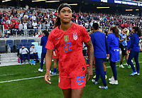 Saint Paul, MN - SEPTEMBER 03: Jessica McDonald #22 of the United States during their 2019 Victory Tour match versus Portugal at Allianz Field, on September 03, 2019 in Saint Paul, Minnesota.