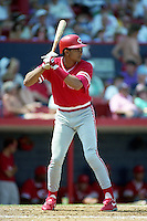 Cincinnati Reds Cesar Hernandez (58) during Spring Training 1993 at Chain of Lakes Park in Winter Haven, Florida.  (MJA/Four Seam Images)