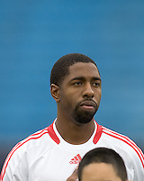Chicago Fire defender Dasan Robinson (32). The New England Revolution out scored the Chicago Fire, 2-1, in Game 1 of the Eastern Conference Semifinal Series at Gillette Stadium on November 1, 2009.