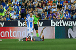 Leganes' Ruben Perez and Real Sociedad's Theo Hernandez during La Liga match. August 24, 2018. (ALTERPHOTOS/A. Perez Meca)