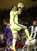 Calcio, Champions League: finale Juventus vs Real Madrid. Cardiff, Millennium Stadium, 3 giugno 2017.<br /> Juventus' Gianluigi Buffon in action during the Champions League final match between Juventus and Real Madrid at Cardiff's Millennium Stadium, Wales, June 3, 2017. Real Madrid won 4-1.<br /> UPDATE IMAGES PRESS/Isabella Bonotto