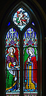 Dec. 5, 2012; St. Cecilia stained glass window in the Basilica of the Sacred Heart..Photo by Matt Cashore/University of Notre Dame