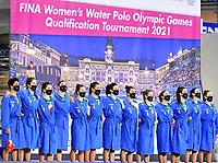 Team Italy <br /> Italy ITA - Israel ISR <br /> Trieste (Italy) 22/01/2021 Bruno Bianchi Aquatic Center <br /> Fina Women's Water Polo Olympic Games Qualification Tournament 2021 <br /> Photo Andrea Staccioli / Deepbluemedia / Insidefoto