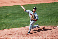 3 September 2018: Tri-City ValleyCats pitcher Joey Gonzalez on the mound against the Vermont Lake Monsters at Centennial Field in Burlington, Vermont. The Lake Monsters defeated the ValleyCats 9-6 in the last game of the 2018 NY Penn League regular season. Mandatory Credit: Ed Wolfstein Photo *** RAW (NEF) Image File Available ***