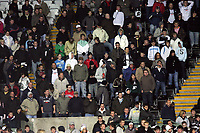 Pictured: Swansea City fans in action<br /> Re: Carling Cup Round Four, Swansea City Football Club v Watford at the Liberty Stadium, Swansea, south Wales, Tuesday 11 November 2008.<br /> Picture by Dimitrios Legakis Photography (Athena Picture Agency), Swansea, 07815441513