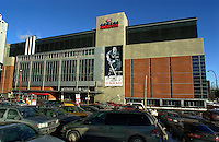 "NEW MAJORITY OWNER FOR THE MONTREAL CANADIENS AND SALE OF THE MOLSON CENTRE<br /> <br /> March 7th, 2001 outside photo of the north side of the Molson Centre; home of the Montreal `` Canadiens `` hockey club.<br /> Molson Inc. today on January 31st, 2001  that a new majority owner (for the Montreal Canadiens and  the Molson Centre) ;  Colorado businessman George N. Gillett Jr. will purchase 80.1% controlling interest in the hockey team and 100% of the Molson Centre in a deal valued at $275 million. Molson will retain a 19.9% stake in the hockey team and receive a total of $190 million in cash. ""<br /> George Gillett is an experienced businessman with accomplishments in sports, resort and leisure management, television broadcasting, transportation and agriculture. He currently serves as chairman of Booth Creek Management Corp., and managing partner of the Gillett Family Partnerships, which control or have investments in a variety of businesses. Mr. Gillett is also Chairman and Chief Executive Officer of Booth Creek Ski Holdings, Inc., made up of some of the finest ski resorts in the United States. ""<br /> Molson's decision to sell a majority interest in the hockey club was announced in June 2000, after a thorough examination of its role in the sports and entertainment industry, in the context of the Company's commitment to return to its brewing roots. It is also a logical step in the development of a strategy to improve the hockey team while leveraging the 40-year business relationship between Molson and the Canadiens. <br /> Molson (TSE: MOL.A) is Canada's pre-eminent brewer with more than $2 billion in annual sales. Founded in 1786, Molson is North America's oldest beer brand and a global brand name with products that include Molson Canadian, Molson Export, Molson Dry, Rickard's Red and the Brazilian beer brand, Bavaria. <br /> <br /> Photo by Pierre Roussel / Liaison<br /> NOTE :  Nikon D-1 Tiff opened as NTSC and converted to Adobe RGB. No levels adjusted.<br /> -"
