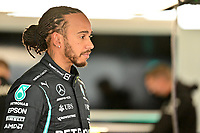 25th September 2021; Sochi, Russia; F1 Grand Prix of Russia  qualifying sessions;  HAMILTON Lewis gbr, Mercedes AMG F1 GP W12 E Performance took 4th on pole