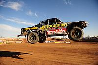 Dec. 10, 2011; Chandler, AZ, USA;  LOORRS pro lite unlimited driver Kyle LeDuc during round 15 at Firebird International Raceway. Mandatory Credit: Mark J. Rebilas-