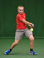 01-12-13,Netherlands, Almere,  National Tennis Center, Tennis, Winter Youth Circuit, Liam Liles<br /> Photo: Henk Koster