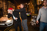 People out on the town in Aberystwyth, west Wales  on Mad Friday, Booze Black Friday or Black Eye Friday, the last Friday night before Christmas Day, when traditionally people in the UK go out to celebrate the start of their holidays. Friday 22 December 2017