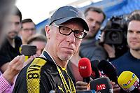 03.01.2018,  Football 1.Liga 2017/2018,  trainings camp of  Borussia Dortmund in Marbella in spain, 1.Training team Estadio Municipal de Marbella,   dem Training gibt Trainer Peter Stoeger (Dortmund)  *** Local Caption *** © pixathlon<br /> <br /> +++ NED + SUI out !!! +++<br /> Contact: +49-40-22 63 02 60 , info@pixathlon.de