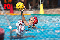 Stanford, CA - March 23, 2019: Kayla Constandse during the Stanford vs. Harvard women's water polo game at Avery Aquatic Center Saturday.<br /> <br /> The Cardinal won 20-7.
