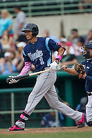 Corpus Christi Hooks shortstop Carlos Correa (1) at bat during the Texas League baseball game against the San Antonio Missions on May 10, 2015 at Nelson Wolff Stadium in San Antonio, Texas. The Missions defeated the Hooks 6-5. (Andrew Woolley/Four Seam Images)
