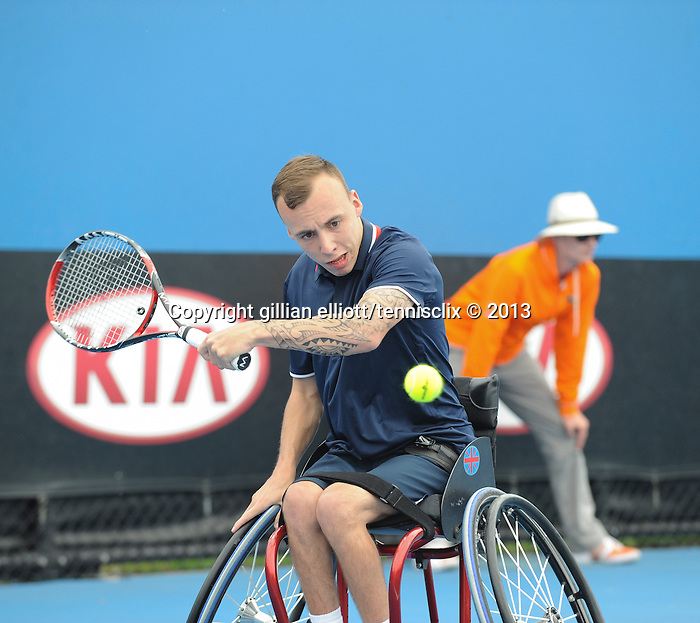 Andrew David Lapthorne (GBR) is runner-up in wheelchair competition at Australian Open on January 27, 2013 in Melbourne