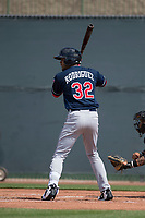 Cleveland Indians right fielder Johnathan Rodriguez (32) during a Minor League Spring Training game against the San Francisco Giants at the San Francisco Giants Training Complex on March 14, 2018 in Scottsdale, Arizona. (Zachary Lucy/Four Seam Images)