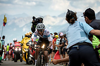 White Jersey Egan Bernal (COL/Ineos) up the Col du Galibier (HC/2622m/23km@5.1%)<br /> <br /> Stage 18: Embrun to Valloire (208km)<br /> 106th Tour de France 2019 (2.UWT)<br /> <br /> ©kramon