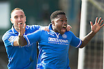 Raith Rovers v St Johnstone....08.03.14    Scottish Cup Quarter Final<br /> Nigel Hasselbaink celebrates his goal<br /> Picture by Graeme Hart.<br /> Copyright Perthshire Picture Agency<br /> Tel: 01738 623350  Mobile: 07990 594431