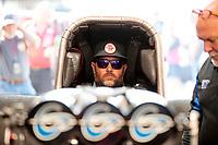 Sep 15, 2019; Mohnton, PA, USA; NHRA funny car driver Shawn Langdon during the Reading Nationals at Maple Grove Raceway. Mandatory Credit: Mark J. Rebilas-USA TODAY Sports