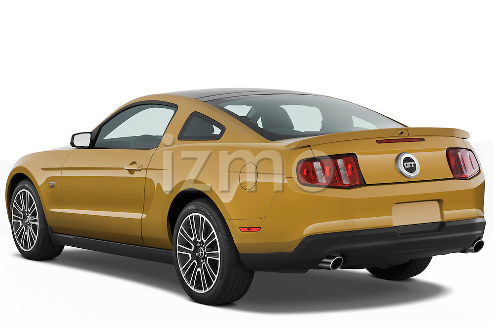 Rear three quarter view of a 2010 Ford Mustang Coupe GT Premium