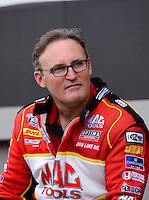 Sept. 14, 2012; Concord, NC, USA: NHRA top fuel dragster driver Doug Kalitta during qualifying for the O'Reilly Auto Parts Nationals at zMax Dragway. Mandatory Credit: Mark J. Rebilas-