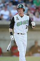 May 25, 2008: Matt Ray (2) of the Kane County Cougars at bat against the Quad Cities River Bandits at Elfstrom Stadium in Geneva, IL. Photo by: Chris Proctor/Four Seam Images