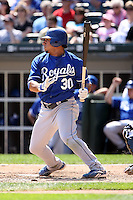 August 15 2008:  Shortstop Mike Aviles of the Kansas City Royals during a game at U.S. Cellular Field in Chicago, IL.  Photo by:  Mike Janes/Four Seam Images