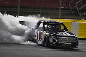 NASCAR Camping World Truck Series<br /> North Carolina Education Lottery 200<br /> Charlotte Motor Speedway, Concord, NC USA<br /> Friday 19 May 2017<br /> Kyle Busch, Cessna Toyota Tundra celebrates his win with a burnout<br /> World Copyright: Nigel Kinrade<br /> LAT Images<br /> ref: Digital Image 17CLT1nk05286