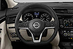 Car pictures of steering wheel view of a 2019 Nissan Rogue Sport SL 5 Door SUV