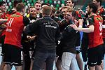 Berlin feiert den vermeintlichen Punktgewinn beim Spiel in der Handball Bundesliga, Frisch Auf Goeppingen - Fuechse Berlin.<br /> <br /> Foto © PIX-Sportfotos *** Foto ist honorarpflichtig! *** Auf Anfrage in hoeherer Qualitaet/Aufloesung. Belegexemplar erbeten. Veroeffentlichung ausschliesslich fuer journalistisch-publizistische Zwecke. For editorial use only.