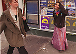 Jazzy begs for money outside Franks Grocery on Haight Street.  She returned to Haight street with her boyfriend after running away from her parents where she was under house arrest in Sacarmento.
