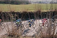 Edward Planckaert (BEL/Sport Vlaanderen-Baloise) in the breakaway group<br /> <br /> Omloop Het Nieuwsblad 2018<br /> Gent › Meerbeke: 196km (BELGIUM)