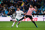 Pepe (l) of Real Madrid fights for the ball with Raul Garcia of Athletic Club during their La Liga match between Real Madrid and Athletic Club at the Santiago Bernabeu Stadium on 23 October 2016 in Madrid, Spain. Photo by Diego Gonzalez Souto / Power Sport Images