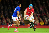 Justin Tipuric of Wales in action during the Guinness Six Nations Championship Round 3 match between Wales and France at the Principality Stadium in Cardiff, Wales, UK. Saturday 22 February 2020