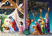 Randy, HOLY FAMILIES, HEILIGE FAMILIE, SAGRADA FAMÍLIA, paintings+++++Visiting-the-Manger-detail-2,USRW197,#xr#