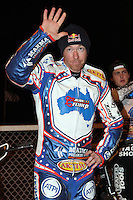 Jason Crump - Lee Richardson Memorial at the Arena Essex Raceway, Pufleet - 28/09/12 - MANDATORY CREDIT: Rob Newell/TGSPHOTO - Self billing applies where appropriate - 0845 094 6026 - contact@tgsphoto.co.uk - NO UNPAID USE.