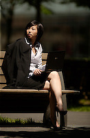 Montreal QC CANADA -  June 7 2009 - Model Released illustration  Photo of an 21 year old asian female business woman