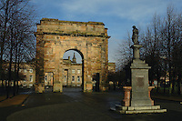 William Collins Monument and the Maclennan Archway, Glasgow Green, Glasgow<br />